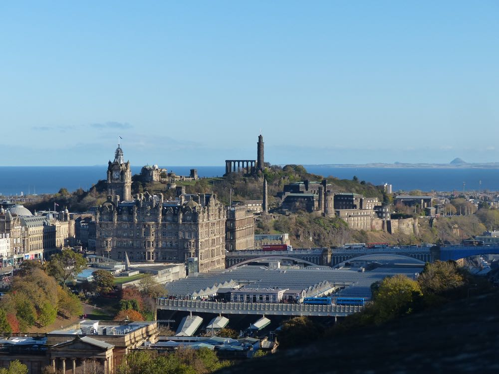 view from Edinburgh Castle Waverley Station
