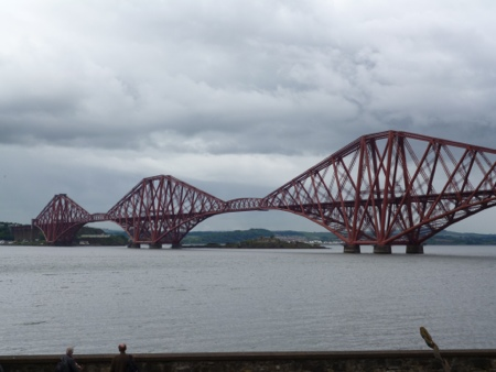 Forth Bridge at the end of the St Andrews Way Day 1