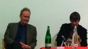 Nigel Planer and Ian Rankin at the 2011 History Festival