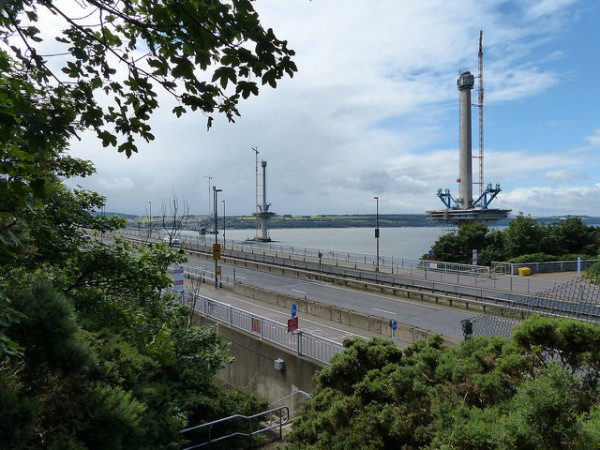 Queensferry Crossing being built