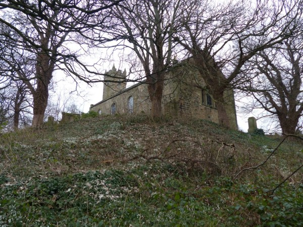 Tranent Parish church sits on top of a steep incline