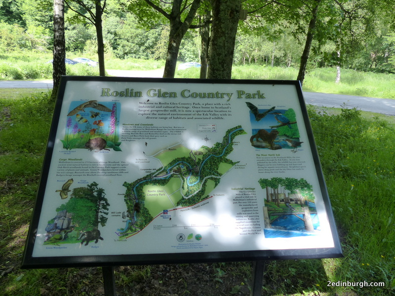 visitor board roslin glen