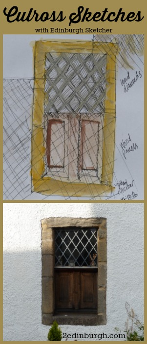 sketching culross with edinburgh sketcher