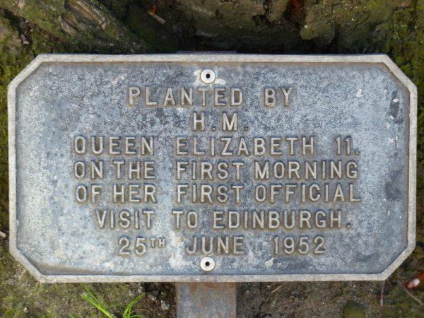 26 June 1953 plaque HRH Queen Elizabeth Canongate Kirk
