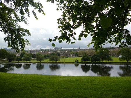 Inverleith Park looking towards Edinburgh Castle