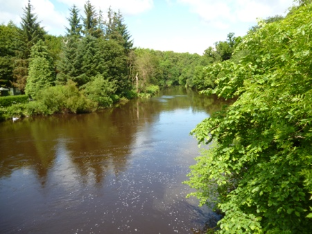 River Almond at Cramond Brig on the St Andrew's Way Pilgrimage walk