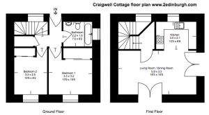 floor plan of craigwell cottage