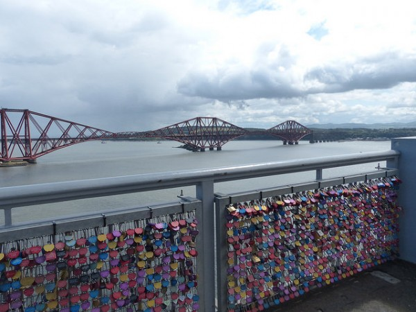 Forth Road Bridge Love Locks