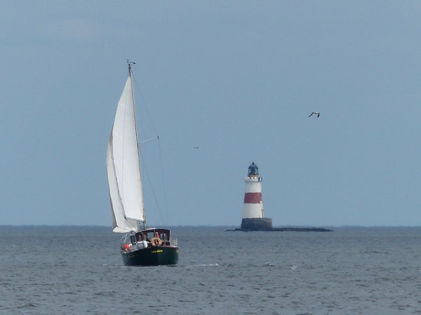 Oxcars Lighthouse and yacht