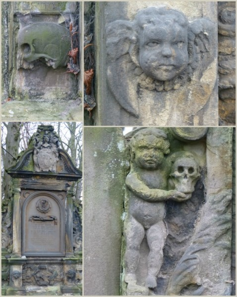 Battle of Prestonpans gravestones carvings