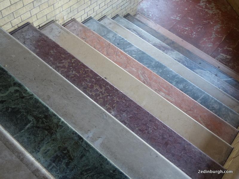 Edinburgh Scotsman Marble Steps