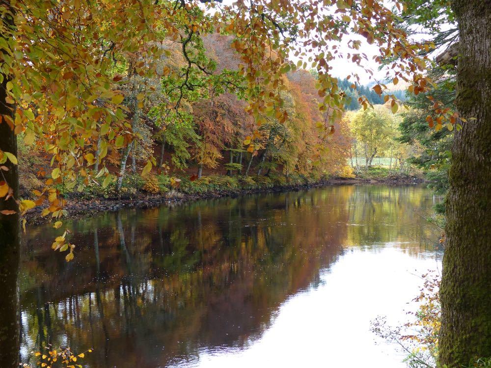 dunkeld river tay autumn