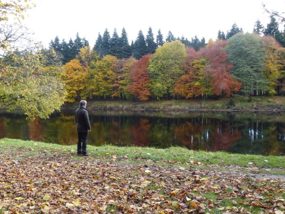 Dunkeld autumn river tay