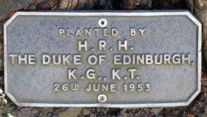 HRH Duke of Edinburgh plaque