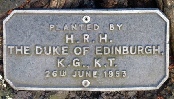 HRH Duke of Edinburgh plaque