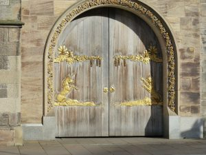 gold painted doors queens gallery holyroodhouse